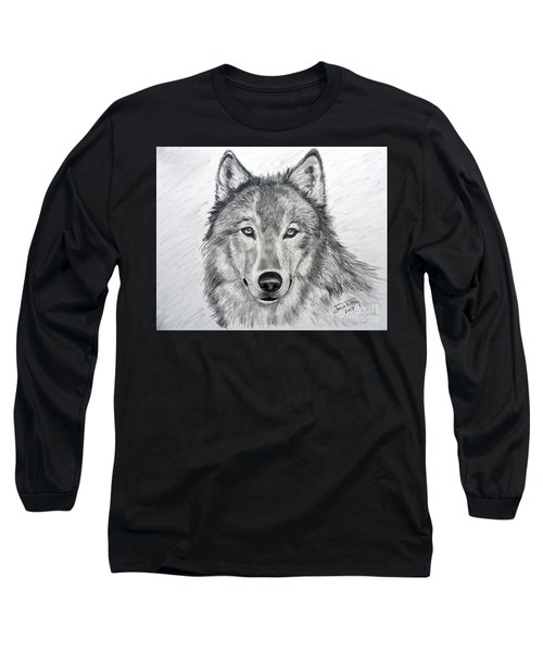 Wolf Long Sleeve T-Shirt by Julie Brugh Riffey