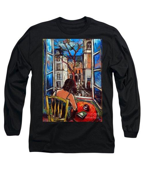 Woman At Window Long Sleeve T-Shirt