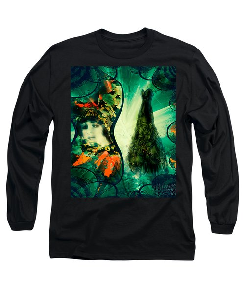 Green Mystery Montage Long Sleeve T-Shirt