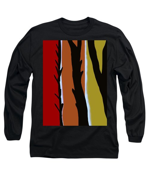 Long Sleeve T-Shirt featuring the digital art Wood L by Christine Fournier