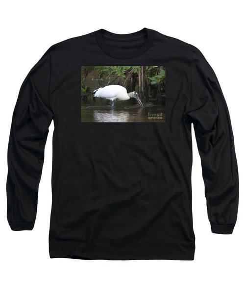 Long Sleeve T-Shirt featuring the photograph Wood Stork In The Swamp by Christiane Schulze Art And Photography