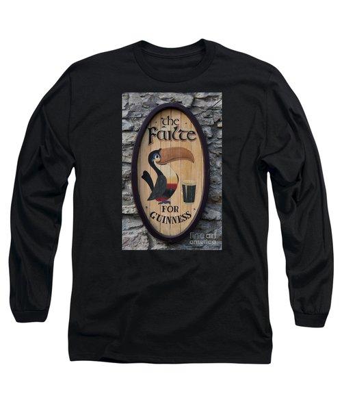 Wooden Guinness Sign Long Sleeve T-Shirt