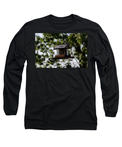 Woodpeckers At Dinner Long Sleeve T-Shirt