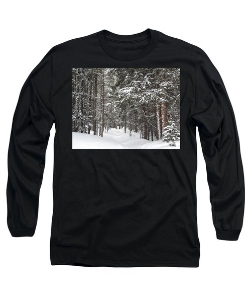 Woods In Winter Long Sleeve T-Shirt by Eric Glaser
