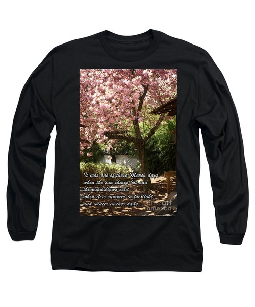 Words Of The Seasons Long Sleeve T-Shirt