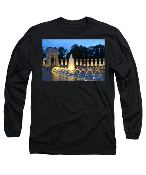 World War II Memorial Long Sleeve T-Shirt by Allen Beatty