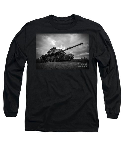 World War II Tank Black And White Long Sleeve T-Shirt