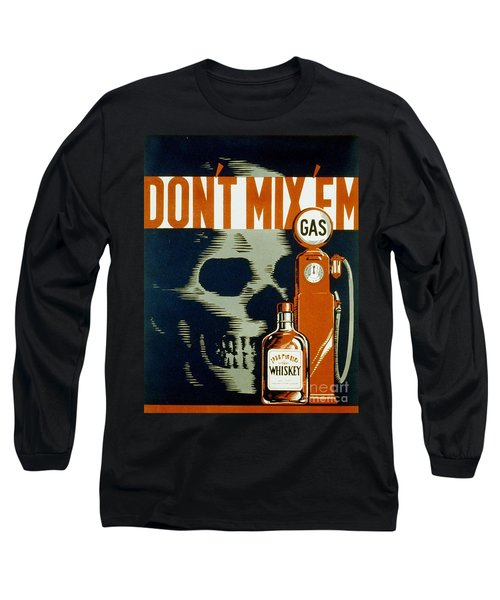 Wpa  Vintage Safety Poster Long Sleeve T-Shirt