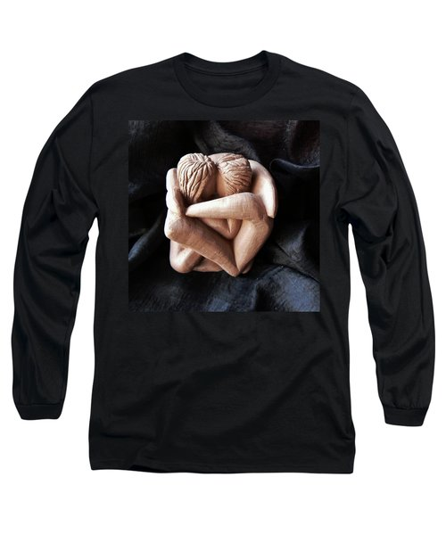 Long Sleeve T-Shirt featuring the sculpture Wrapped Up In Each Other by Barbara St Jean