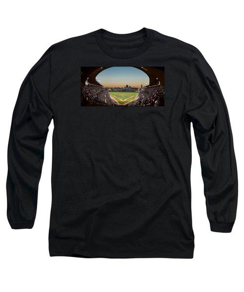Wrigley Field Night Game Chicago Long Sleeve T-Shirt