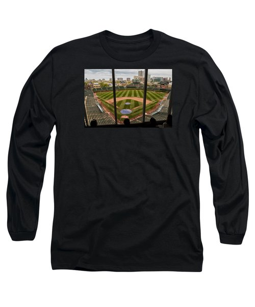 Wrigley Field Press Box Long Sleeve T-Shirt