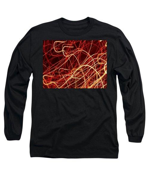 Long Sleeve T-Shirt featuring the photograph Write Light S by Luc Van de Steeg