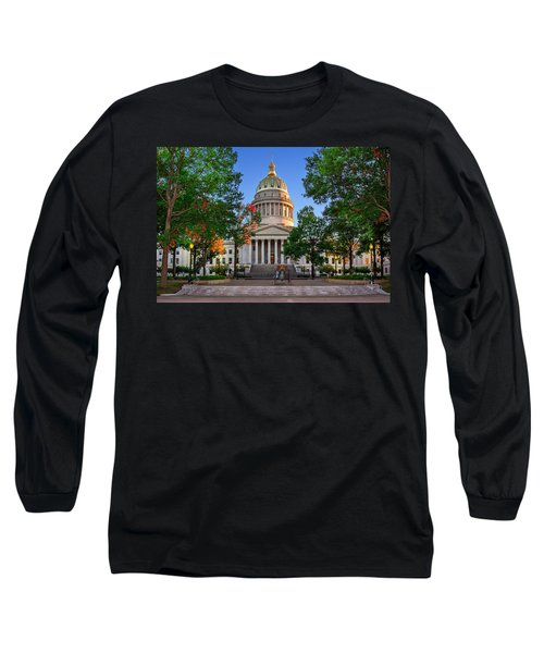 Wv Capitol As Dusk Long Sleeve T-Shirt by Mary Almond