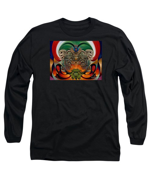 Xiuhcoatl The Fire Serpent Long Sleeve T-Shirt