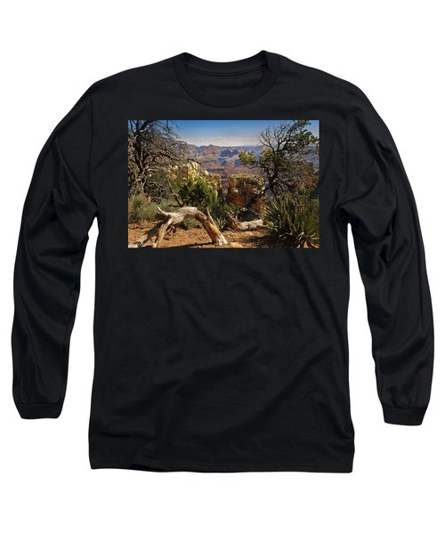 Long Sleeve T-Shirt featuring the photograph Yaki Point 4 The Grand Canyon by Bob and Nadine Johnston