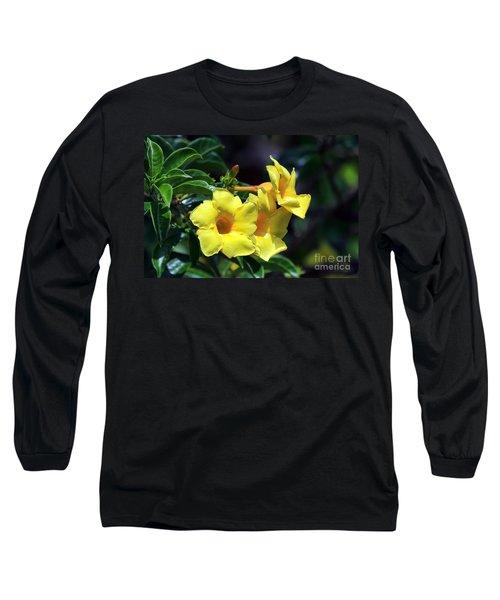 Yellow Allamanda Long Sleeve T-Shirt by Teresa Zieba