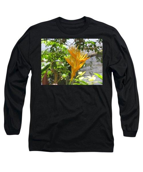 Yellow Bird Of Paradise Long Sleeve T-Shirt