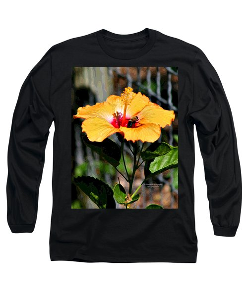 Yellow Bumble Bee Flower Long Sleeve T-Shirt