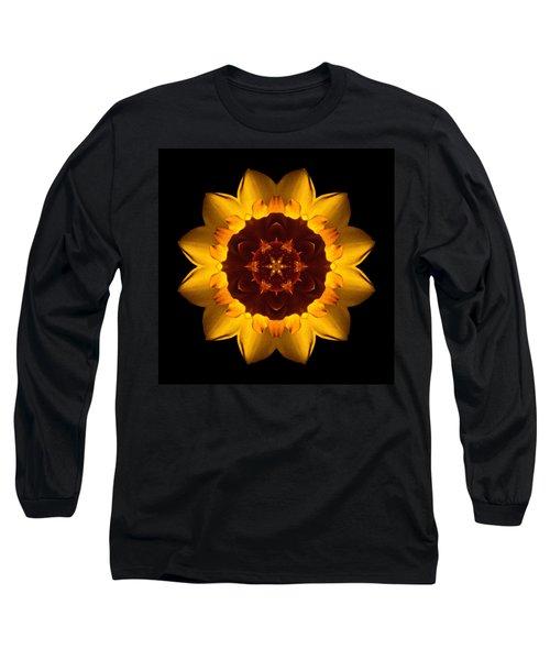 Yellow Daffodil I Flower Mandala Long Sleeve T-Shirt