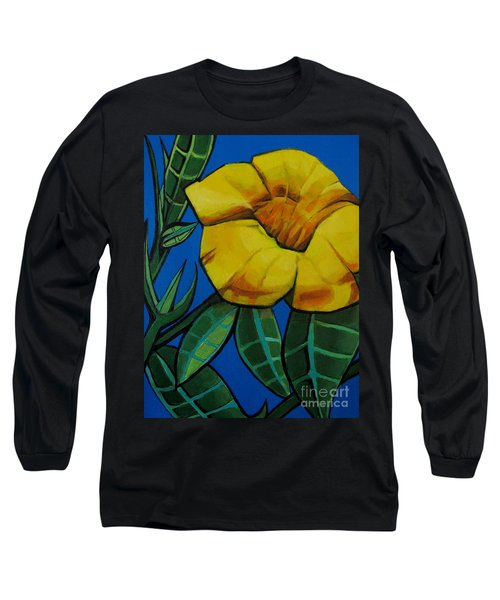 Yellow Elder - Flower Botanical Long Sleeve T-Shirt