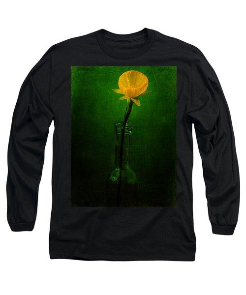 Yellow Flower In A Bottle I Long Sleeve T-Shirt