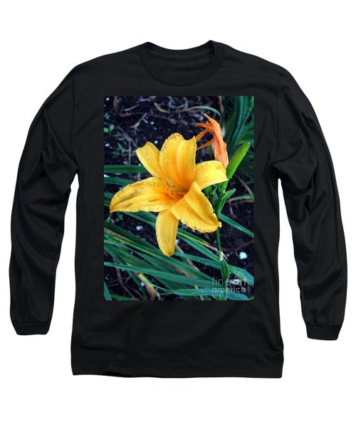 Long Sleeve T-Shirt featuring the photograph Yellow Flower by Sergey Lukashin