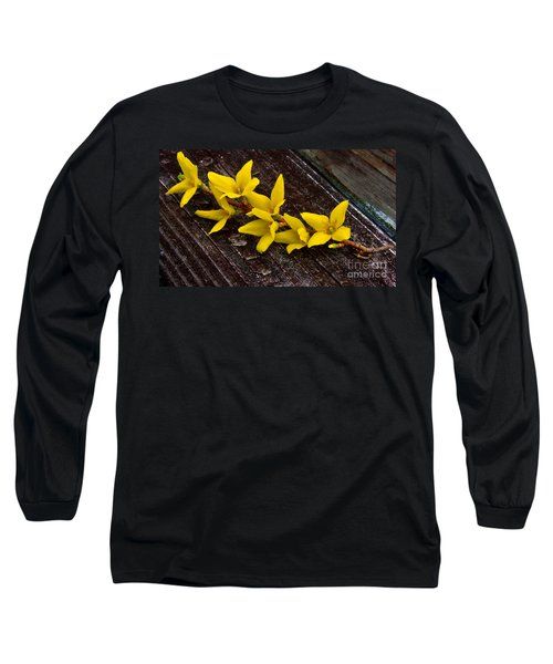 Yellow Forsythia Long Sleeve T-Shirt