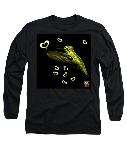 Long Sleeve T-Shirt featuring the digital art Yellow Hummingbird - 2055 F M by James Ahn