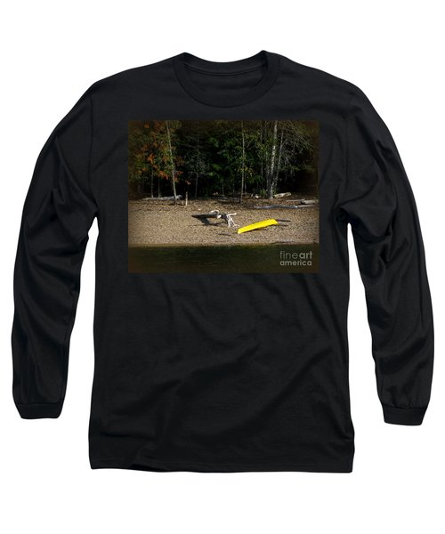 Yellow Kayak Long Sleeve T-Shirt