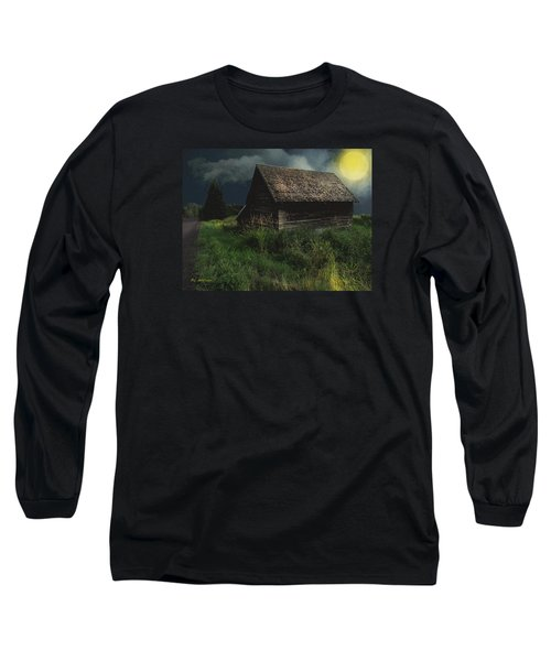 Yellow Moon On The Rise Long Sleeve T-Shirt
