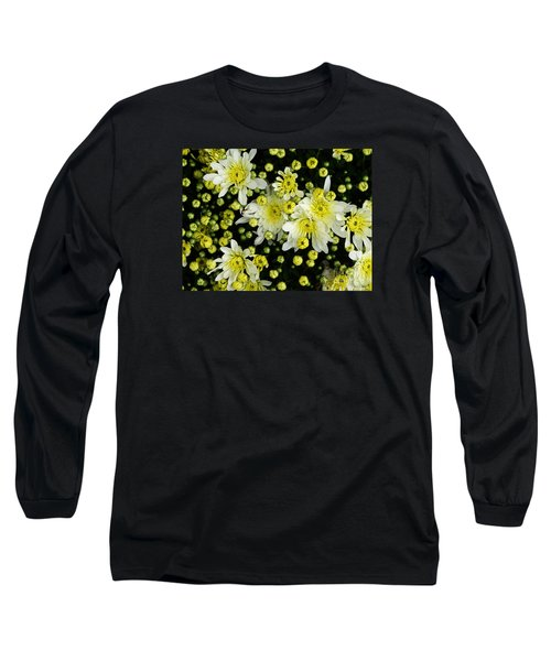 Long Sleeve T-Shirt featuring the photograph Yellow Mums by Lyric Lucas
