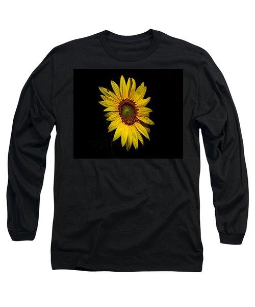 Yellow On Black Long Sleeve T-Shirt