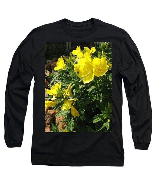 Yellow Primroses Long Sleeve T-Shirt