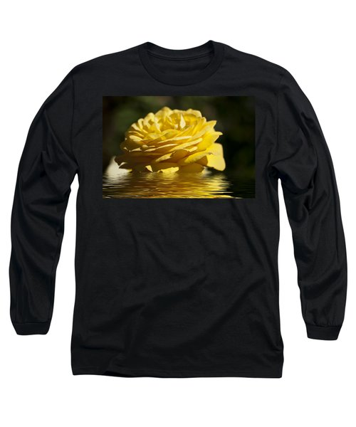 Yellow Rose Flood Long Sleeve T-Shirt