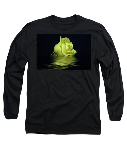 Yellow Rose II Long Sleeve T-Shirt by Sandy Keeton