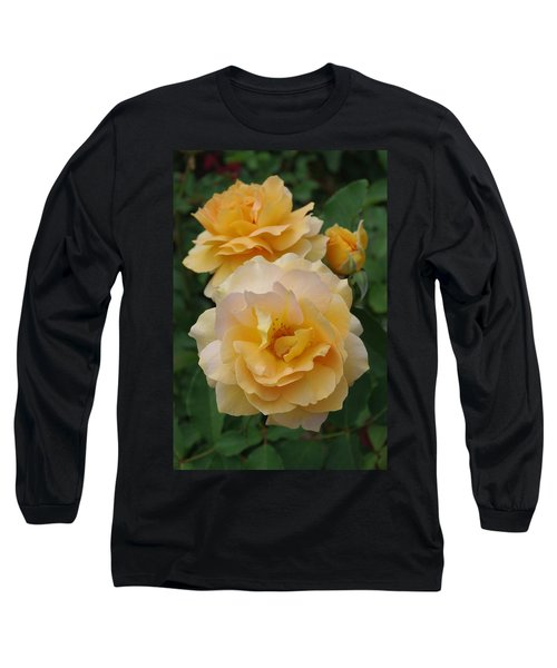 Long Sleeve T-Shirt featuring the photograph Yellow Roses by Marilyn Wilson