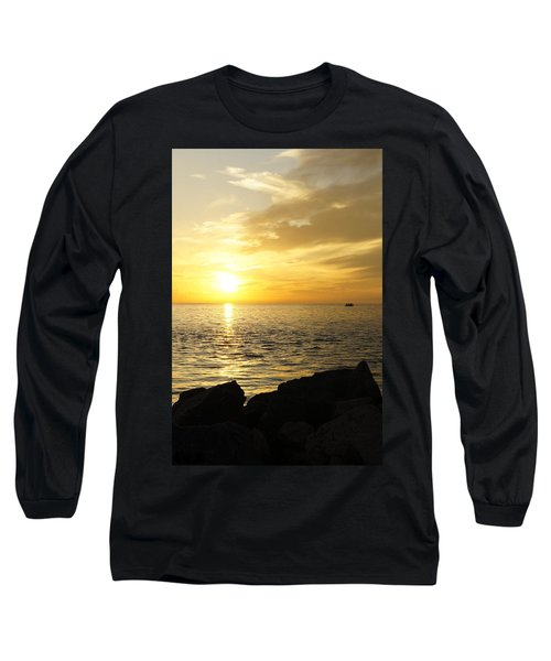 Long Sleeve T-Shirt featuring the photograph Yellow Sky by Laurie Perry