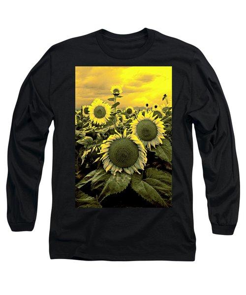 Yellow Sky Yellow Flowers. Long Sleeve T-Shirt
