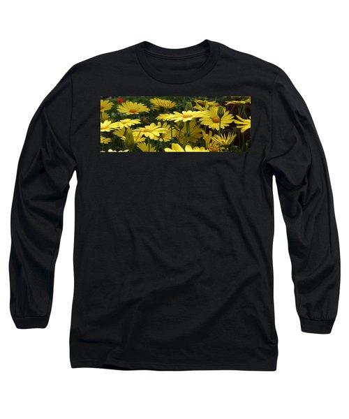 Yellow Splendor Long Sleeve T-Shirt by Bruce Bley