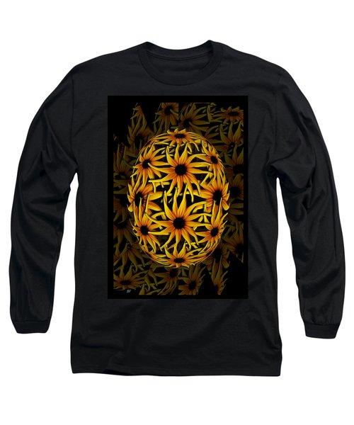 Yellow Sunflower Seed Long Sleeve T-Shirt