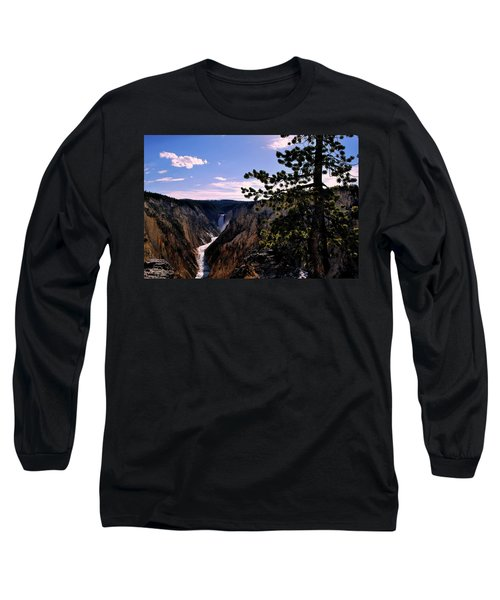 Yellowstone Waterfall Long Sleeve T-Shirt