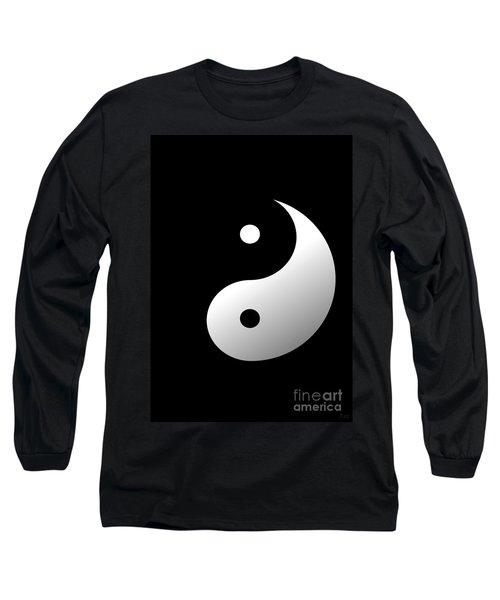 Yin And Yang Long Sleeve T-Shirt by Roz Abellera Art