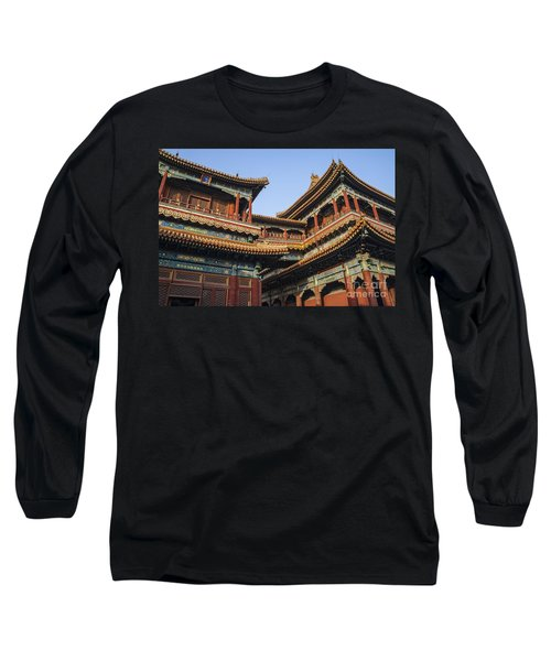 Yonghe Temple Aka Lama Temple In China Long Sleeve T-Shirt