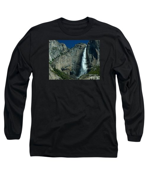 Long Sleeve T-Shirt featuring the photograph Yosemite Falls by Nick  Boren