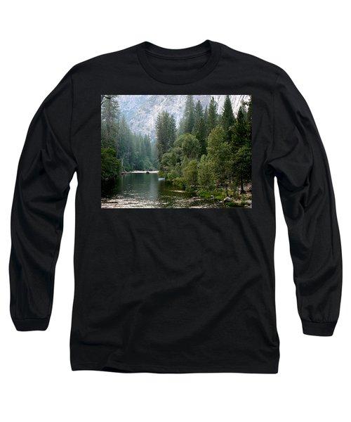 Yosemite National Park Long Sleeve T-Shirt by Laurel Powell