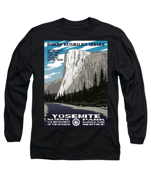 Yosemite National Park Vintage Poster 2 Long Sleeve T-Shirt