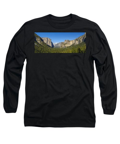 Long Sleeve T-Shirt featuring the photograph Yosemite Valley Moonrise by Steven Sparks