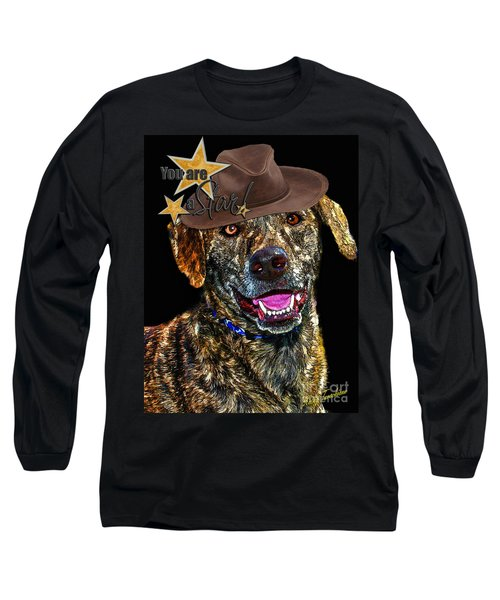 Long Sleeve T-Shirt featuring the digital art You Are A Star by Kathy Tarochione