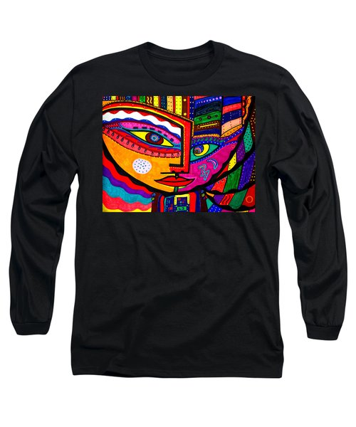 You Move Me - Face - Abstract Long Sleeve T-Shirt