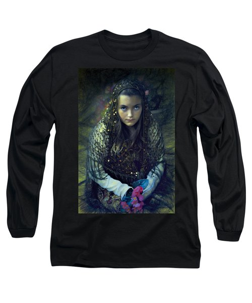 Long Sleeve T-Shirt featuring the photograph Young Maiden by John Rivera